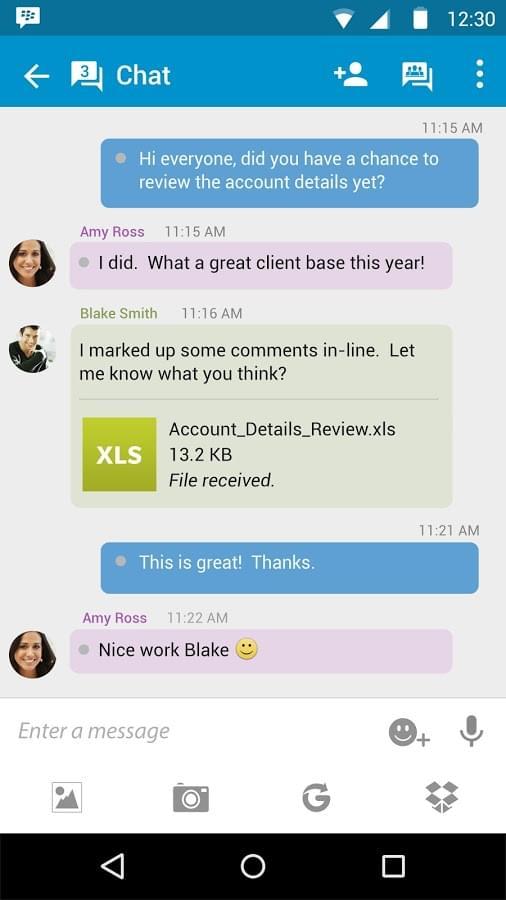 Blackberry Chat