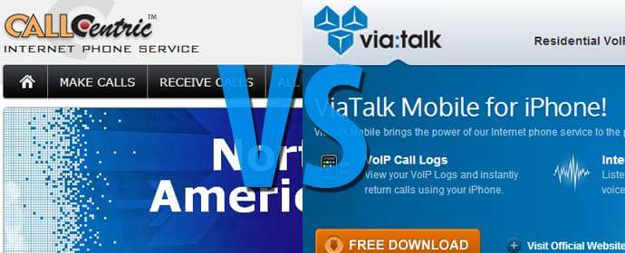 ViaTalk vs. CallCentric Comparison