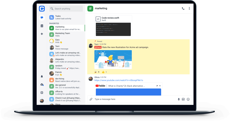chanty interface