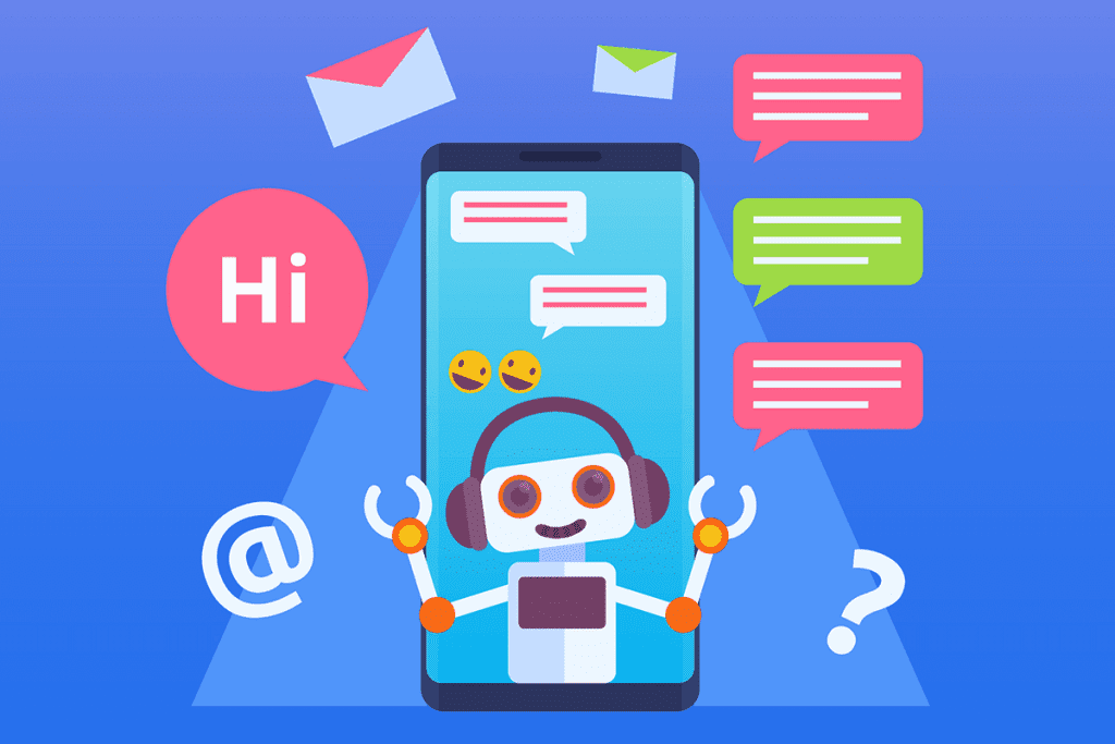 chatbot answering customers