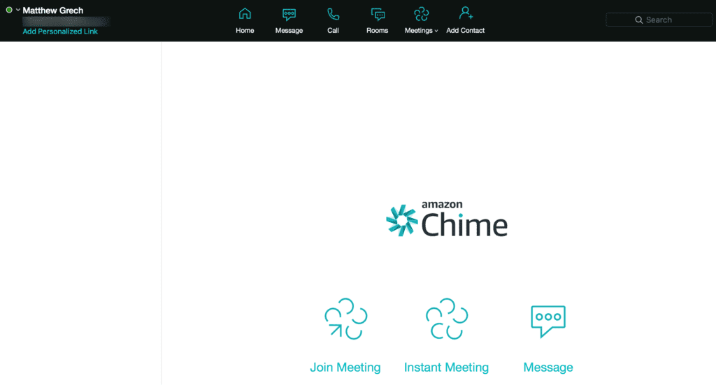 Amazon Chime Dashboard
