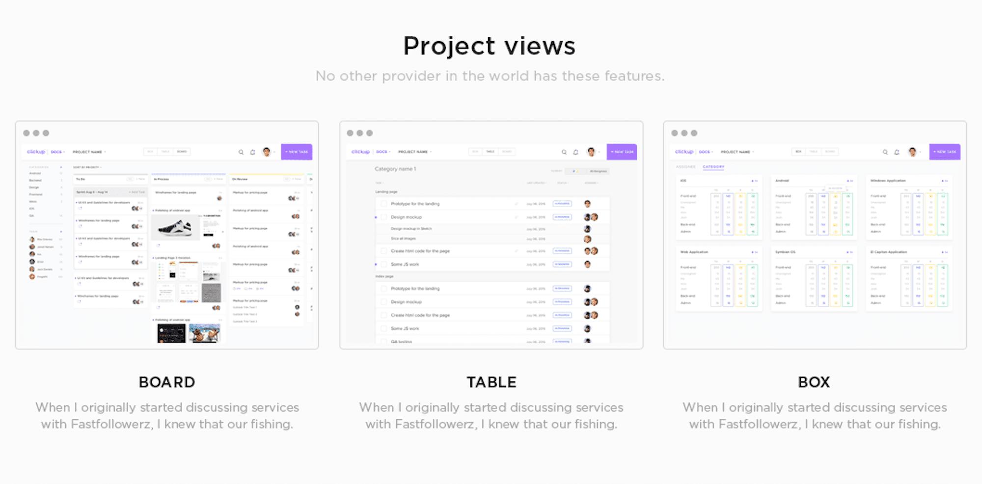 Clickup interface