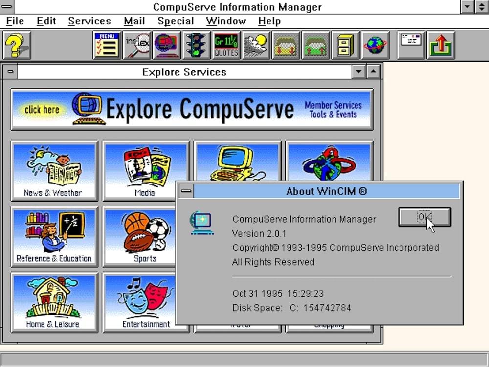 Compuserve Interface