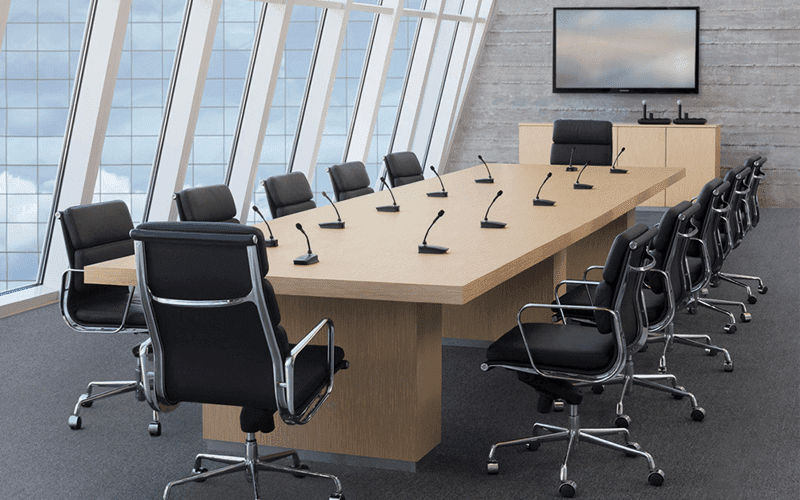 The Best Microphones For Any Conference Room Setup GetVoIP - Conference room table av box