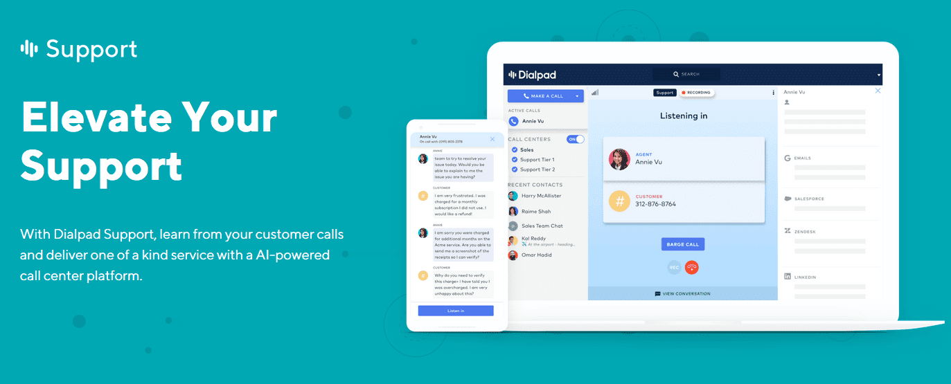 Dialpad Support Brings AI To Even The Smallest Call Center
