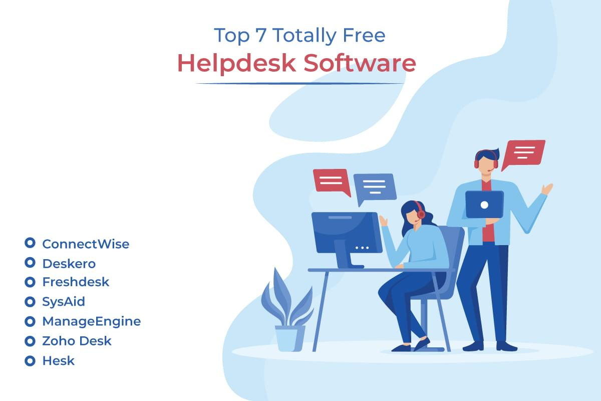 Top 7 Totally Free Helpdesk Software Options for Small Business [Chart]