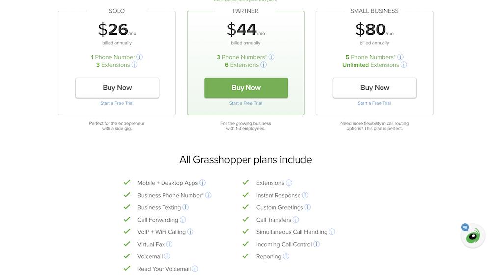 Grasshopper Pricing