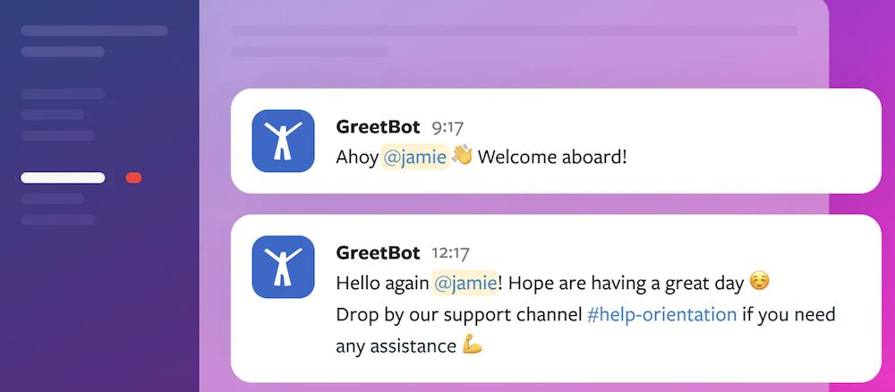 Greetbot Slack