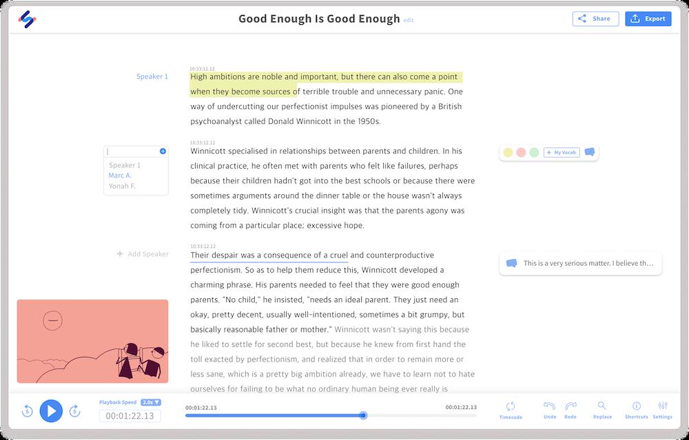 Happy Scribe Transcription Tool
