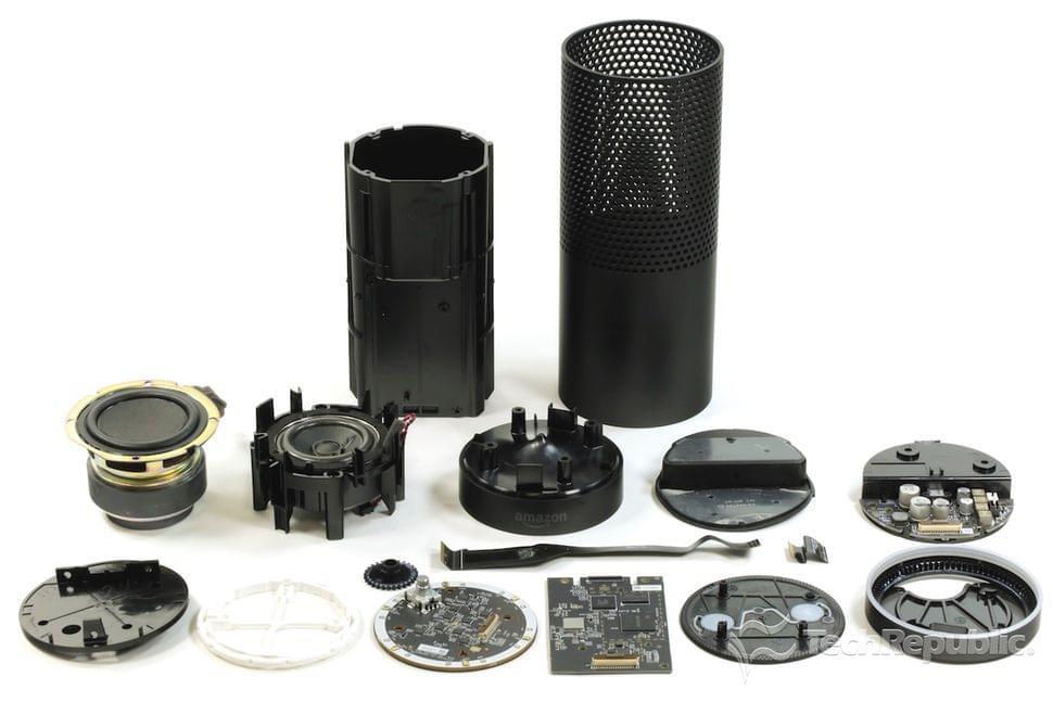 Echo Speaker Taken Apart