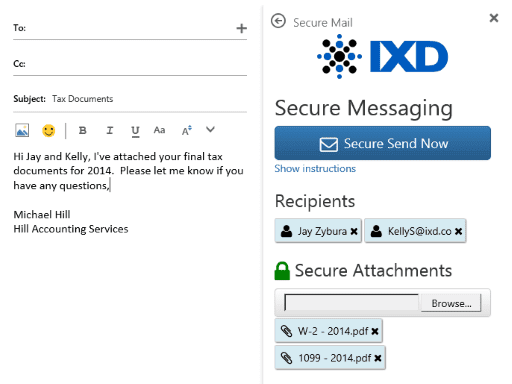 IXD Secure Mail