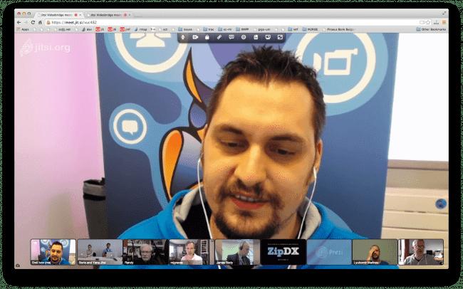 Jitsi video meeting