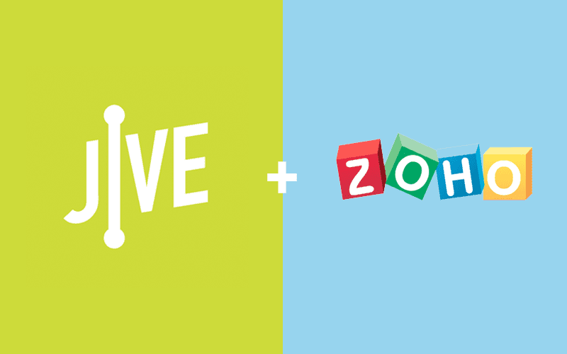 Jive Announces New Integration with Zoho CRM