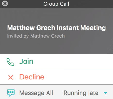 Amazon Chime Instant Meeting