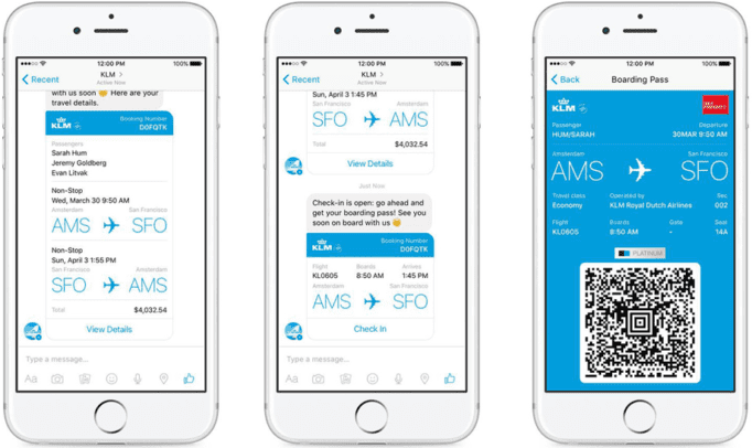 Airline mobile tickets