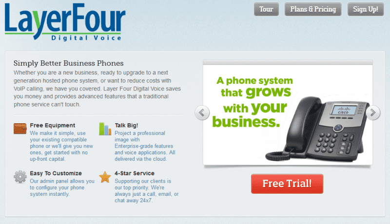 Layer Four Digital Voice. Made For Business