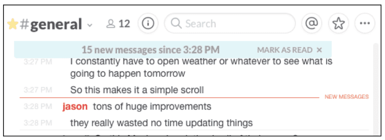 slack messages