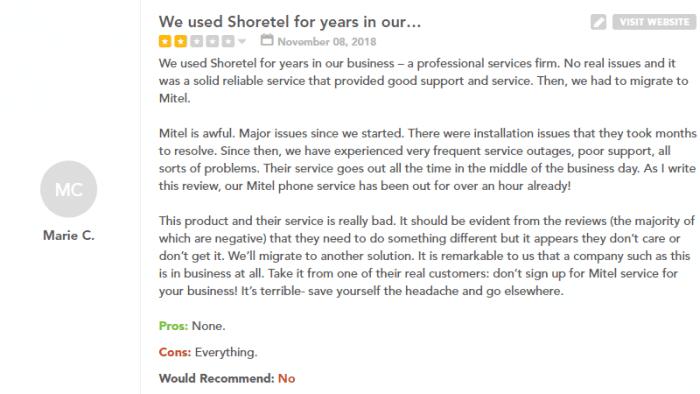 mitel customer service