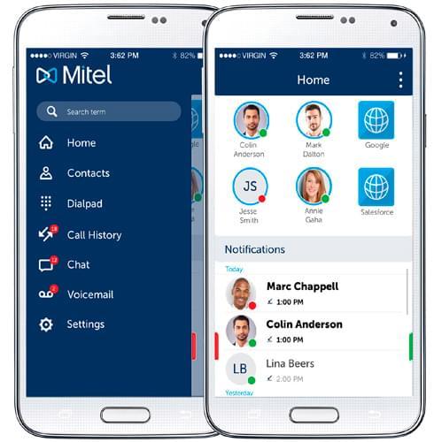 mitel mobile app
