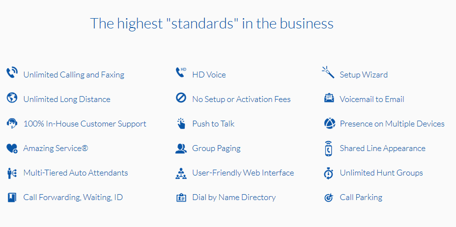 Nextiva Standards and features
