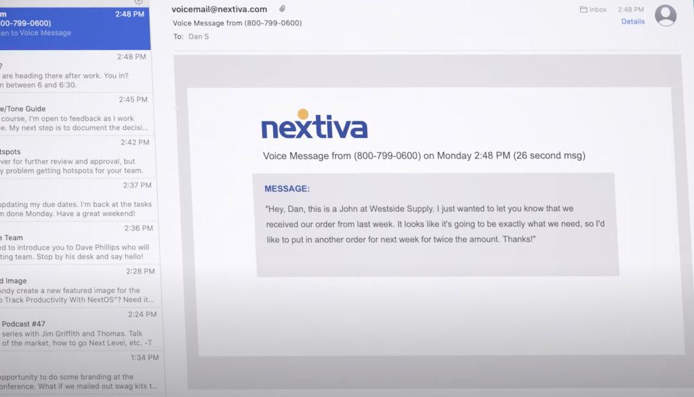 Nextiva Voicemail