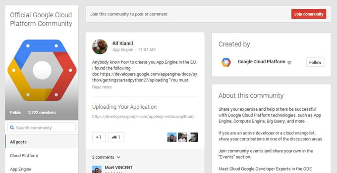 Official Google Cloud Platform Community