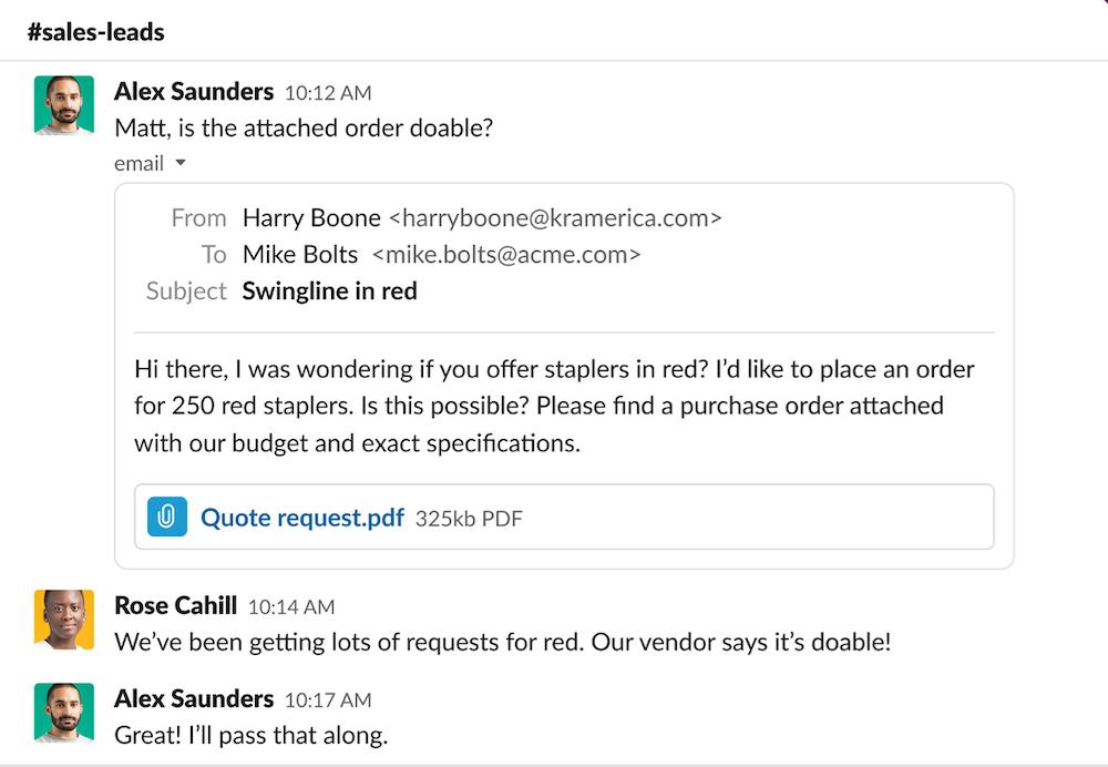 Outlook Slack