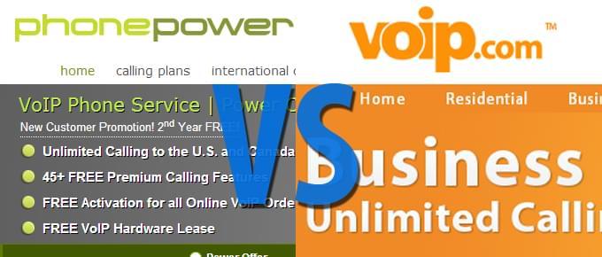 Phone Power vs. VoIP.com Comparison