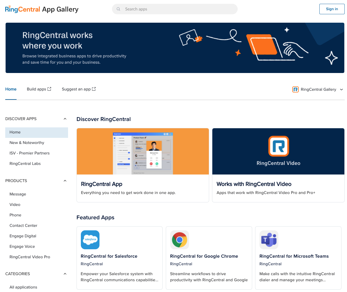 RingCentral Apps and Integrations