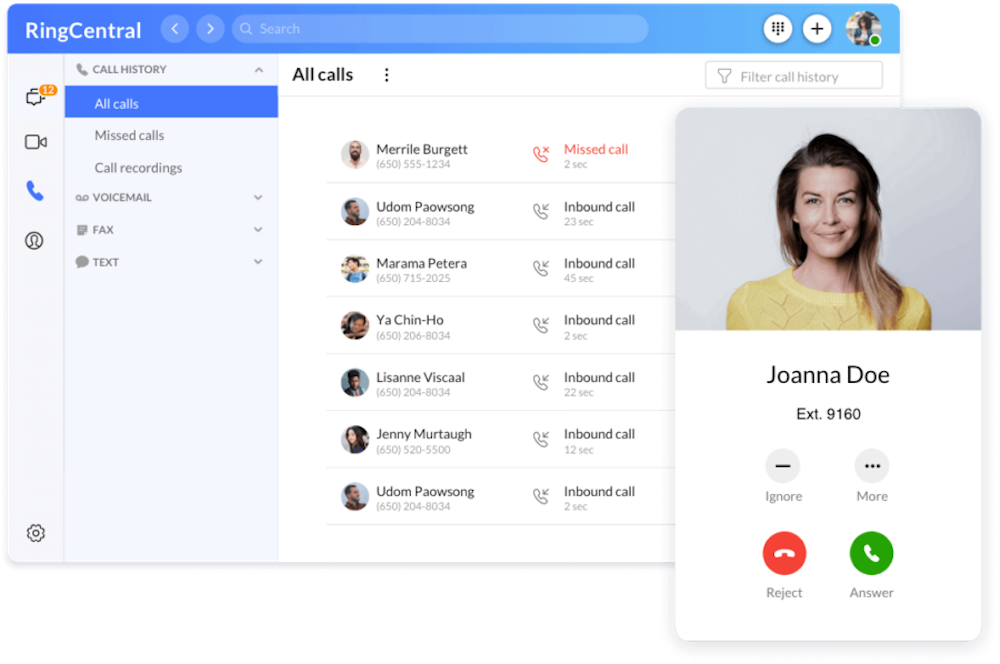 RingCentral Call Management
