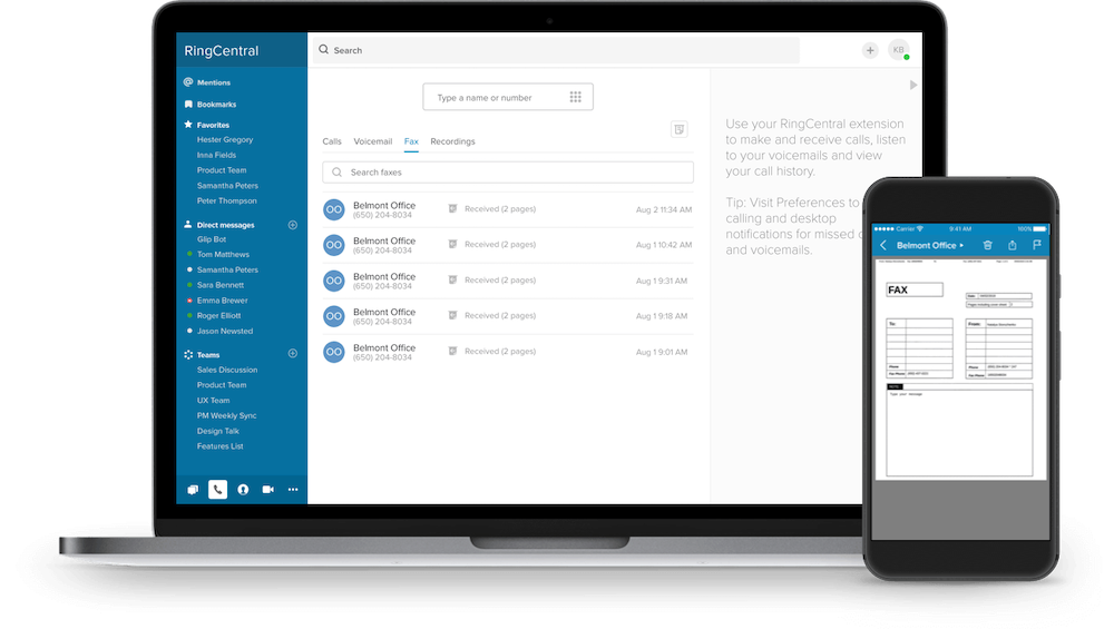 RingCentral Faxing