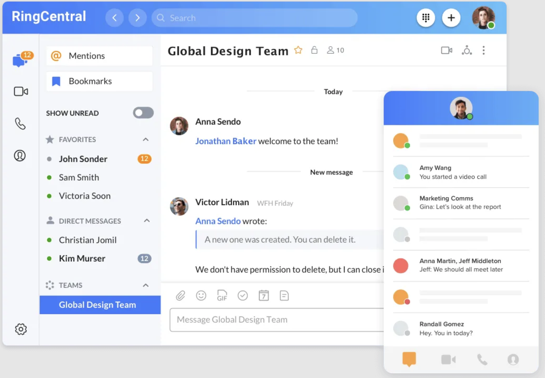 RingCentral MVP Messaging & Chat Capabilities
