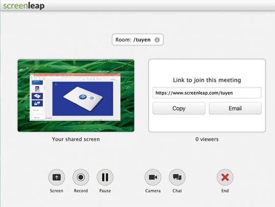 Screenleap meeting