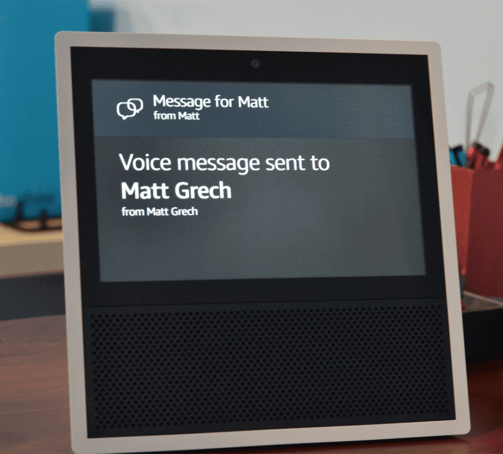 Echo Show Voice Messaging