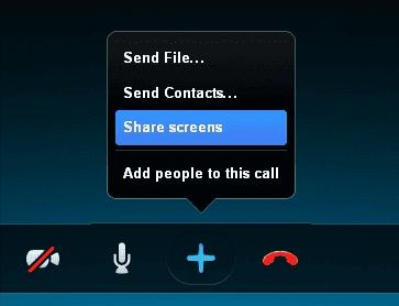 Skype Menu