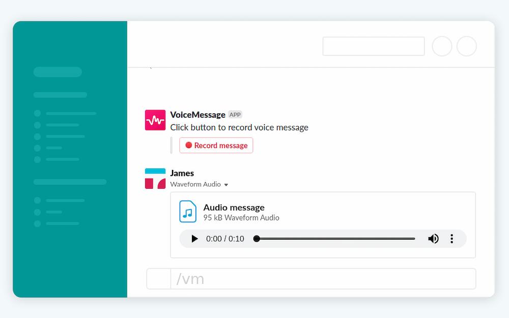 Slack Voice Message