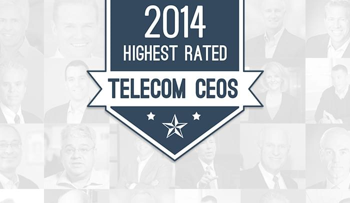 The 20 Highest Rated Telecom CEOs To Work For in 2014