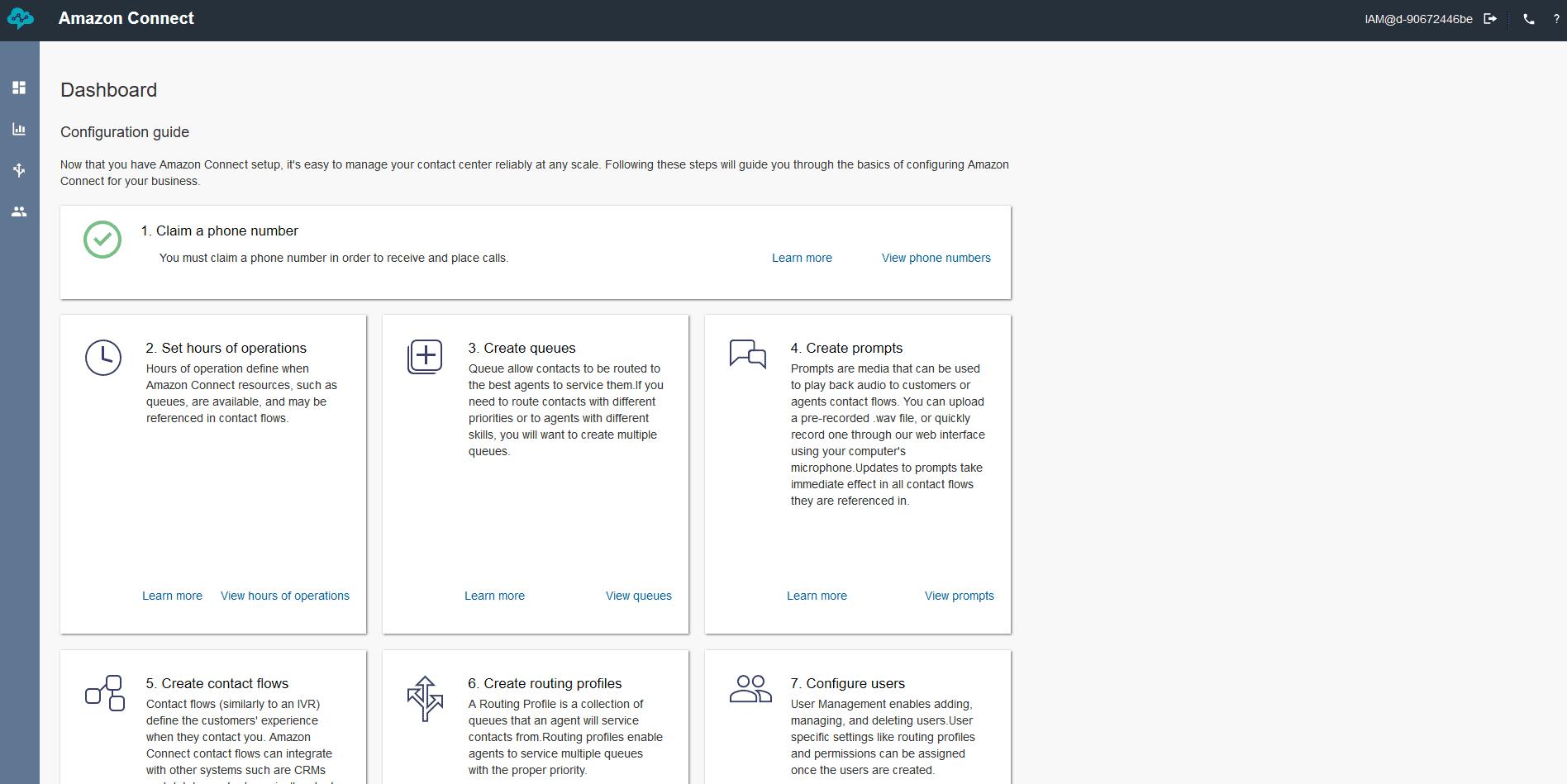 Amazon Connect Basic Design