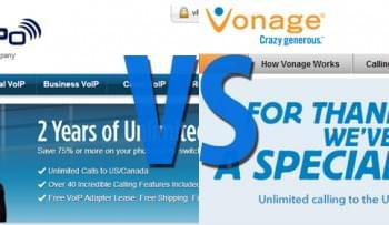 VoIPo vs Vonage - Residential Phone Service Comparison