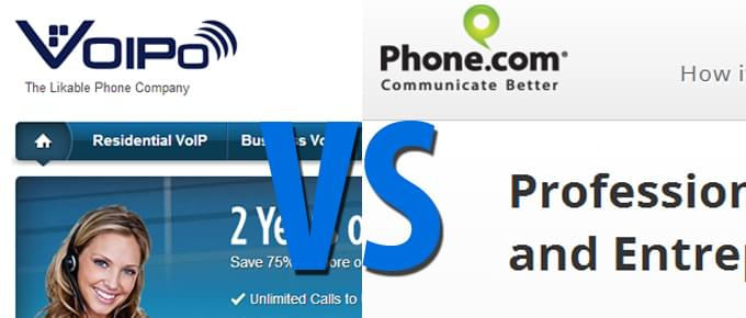 VOIPo vs Phone.com Comparison