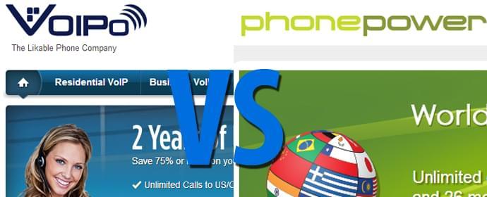 Phone Power vs VOIPo Comparison