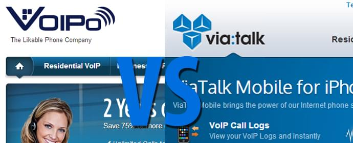 ViaTalk vs VOIPo – Head to Head Comparison