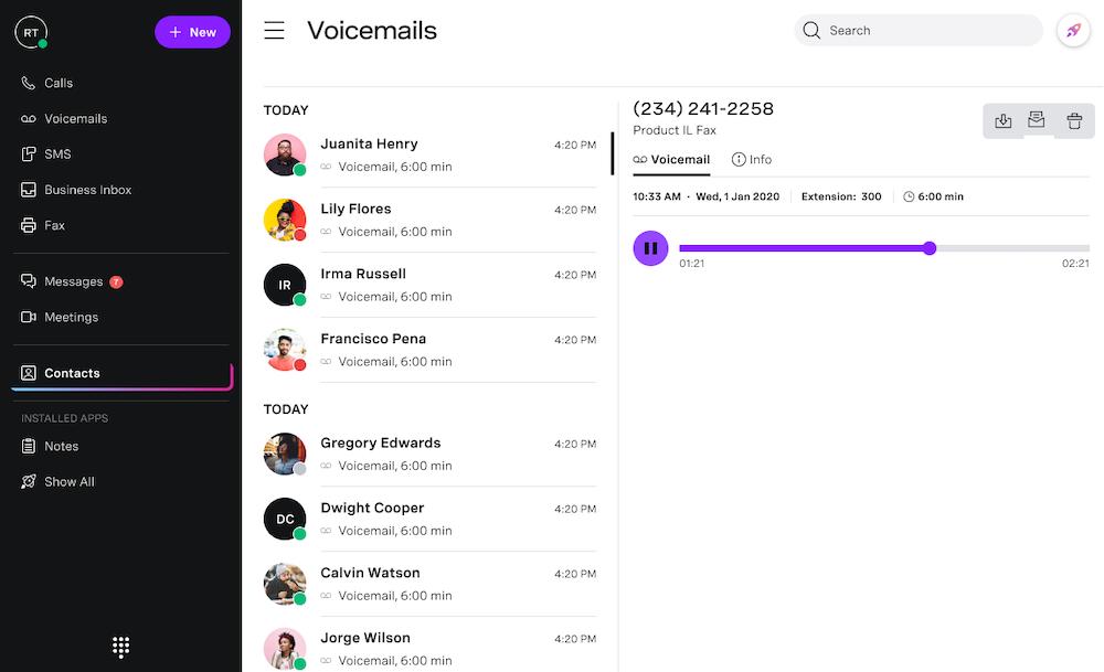 Vonage Voicemail