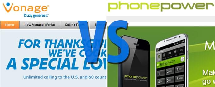 Phone Power vs Vonage Comparison