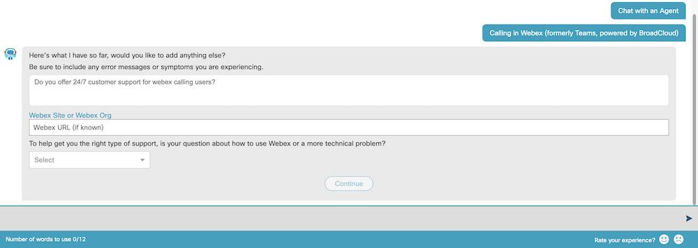 Webex Customer Support