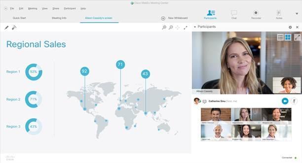 webex interface