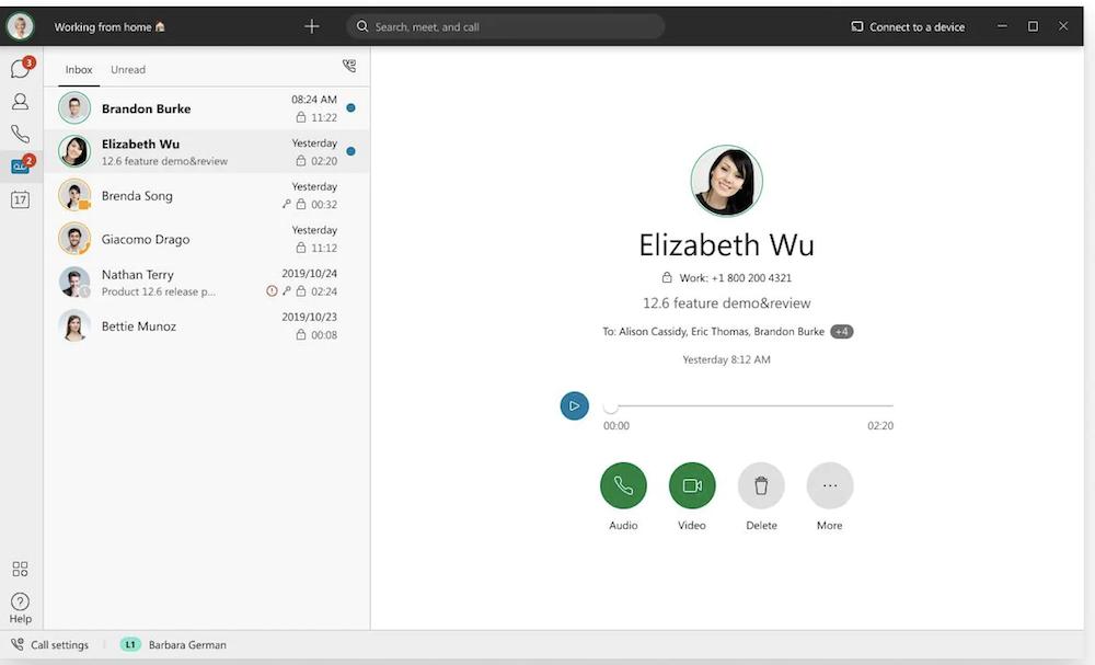 Webex Voicemail