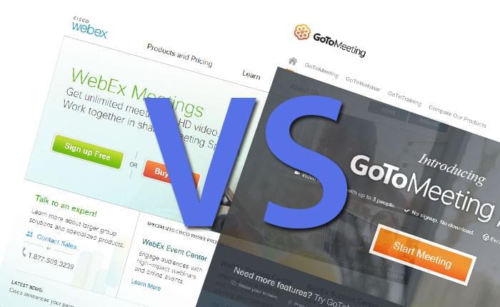 WebEx vs. GoToMeeting: Better Buy For $50/mo