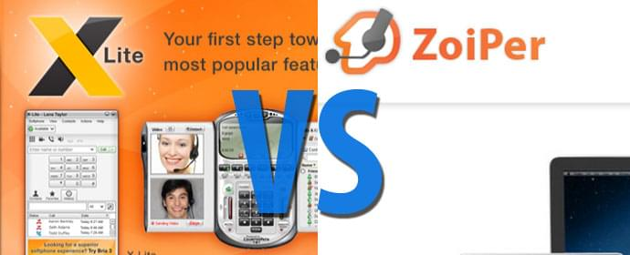 X-Lite vs Zoiper Softphones Comparison