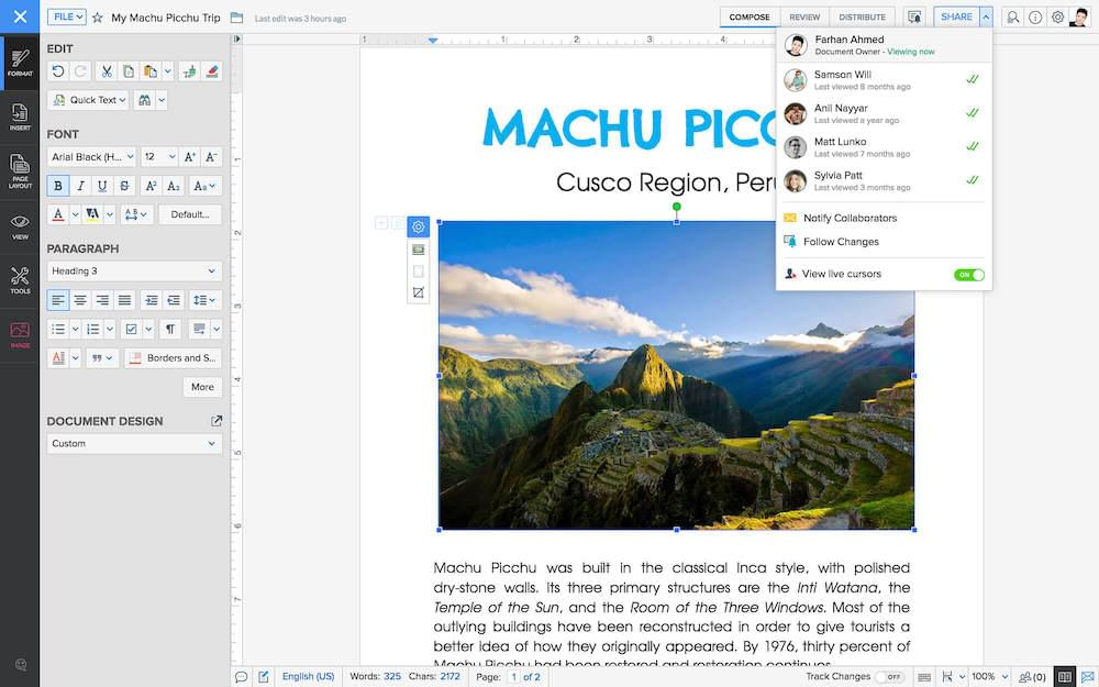 Zoho File Editor
